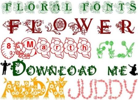 Набор шрифтов flower love fonts